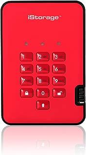 iStorage diskAshur2 256-bit 2TB USB 3.1 secure encrypted hard drive - Red IS-DA2-256-2000-R