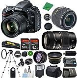 Nikon D610 DX-Format CMOS DSLR Digital Camera Body, NIKKOR 18-55mm f/3.5-5.6 AF-S DX VR, Tamron 70-300mm DI LD Zoom, 2pcs 16GB ZeeTech Memory, Case, Wide Angle, Telephoto, Flash