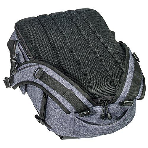 PEDEA DSLR-Kameratasche Fashion mit Displayschutzfolie (Rucksack, grau)