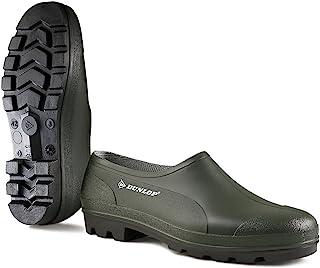 Dunlop Bicolour Wellie Shoe, Green/Black, 9