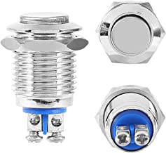 Momentary Metal Push Button Switch, Waterproof Start Button for 12mm 1/2