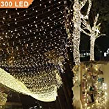 Uping Catena Luminosa Stringa di Luci 300 LED, per Festa Giardino Natale Halloween Matrimo...