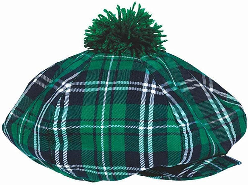 St. Patrick's Day Plaid Fabric Fedora or Beret and Bow Tie Set