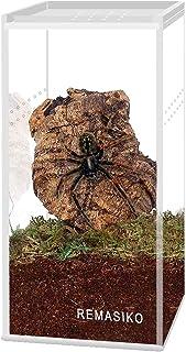 "REMASIKO Magnetic Acrylic Reptile Cage 3""x3""x6"" Nano Tall Enclosure Transparent Reptile Breeding Box Terrarium Tank Tarant..."