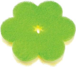 マーナ(MARNA) おはなスポンジ グリーン キッチンスポンジ 薄型 K364G