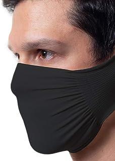 comprar comparacion 5 x Banda protectora negra, impermeable, bacteriostática, poliamida lavable y reutilizable Masqarillas, paquete de 5