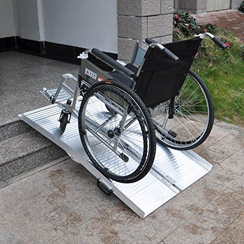 Rampe pour fauteuil roulant Rampe de Chargement 2x Pliable Aluminium 183cm 270kg Rampe valise