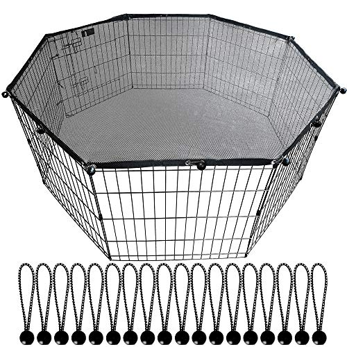 YGCASE Universal Dog Playpen Top Cover, Provide Shade and Security for Outdoor and Indoor, Fits All...
