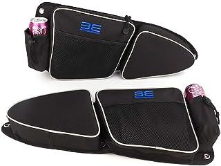 RZR Side Door Bags, Premium Offroad Front Door Side Storage Bag Set w/Knee Pad for 2014 2015 2016 2017 2018 2019 2020 Polaris RZR XP Turbo Turbo S 1000 S900