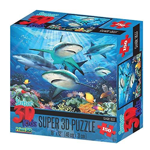Howard Robinson hr10804Super 3D Reef Sharks Puzzle (150-tlg.)
