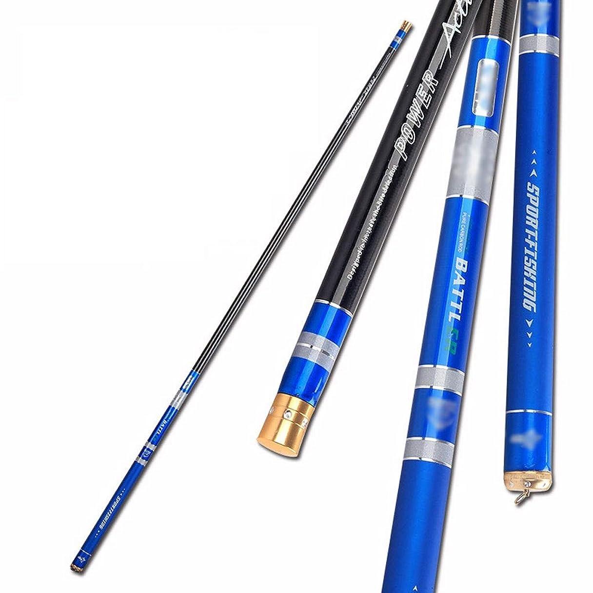 褒賞アクティブ隣人高炭素繊維釣り竿 超軽量 超硬 28 調節可能 釣り道具 縮小可能 ポータブル 3.6~6.3メートル (ブルー) 6.3 juiy0326