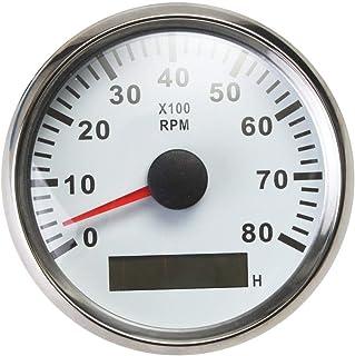 Tachometer Drehzahlmesser Drehzahlmesser wasserdicht mit Stunde Meter 0 8000 RPM 85mm 9 32V mit Hintergrundbeleuchtung