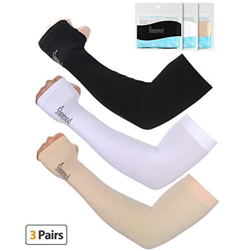 763831a928738 SHINYMOD UV Protection Cooling Arm Sleeves Men Women Sunblock Cooler  Protective Sports Running Golf Cycling Basketball