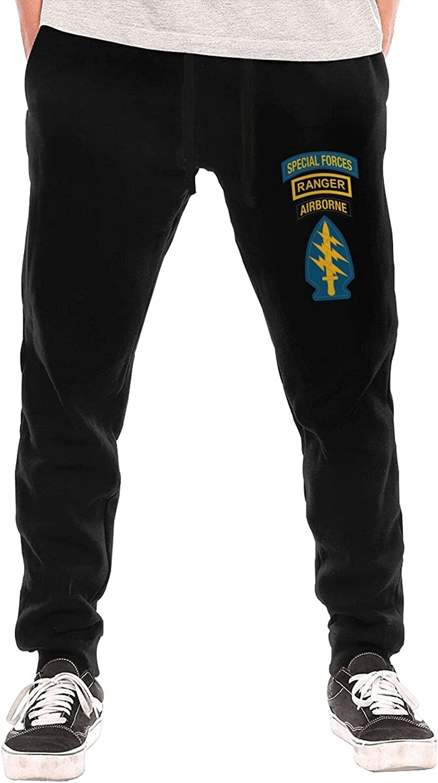 Chuwewebaihu Airborne Badge Ranger Tab Men Teen Long Pants Underwear Slacks Fleece Pants