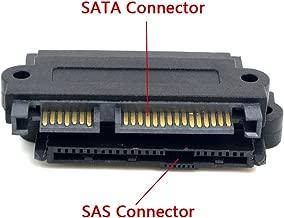 CY SATA Hard Disk Drive Raid Adapter with 15 Pin Power Port 7 Pin + 15 Pin to SFF-8482 SAS 22 Pin Black