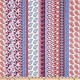 Fabtrends 0726040 Wool Dobby Chiffon Floral Paisley Stripe