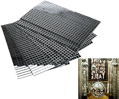 Self-Adhesive Real Glass Craft Mini Square Round Mirrors Mosaic Tiles 5 x 5mm