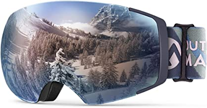 OutdoorMaster Ski & Snowboard Goggles, Zealot with Unique Ultra Anti-Fog, High Definition Color Optimized Lens 100% UV Pro...