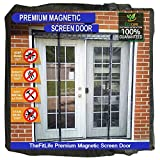 Double Door Magnetic Fly Screen - Heavy Duty Mesh Curtain with Full Frame