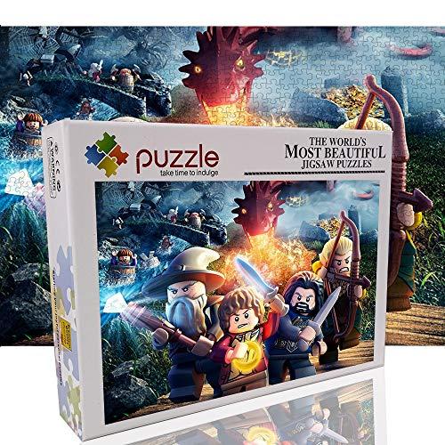 El señor de los Anillos Rompecabezas 1000 Piezas para Adultos Lego Toy Jigsaw Puzzle Juego Entre Padres e Hijos 1000 Piezas Rompecabezas 70x50cm