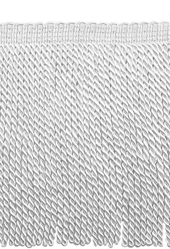 DÉCOPRO 5 Yard Value Pack - 9 Inch Long White Bullion Fringe Trim, Basic Trim Collection, Style BFS9 Color: A1 (15 Ft / 4.5 Meters)