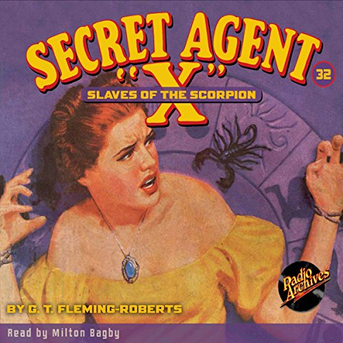 "Secret Agent ""X"" #32 audiobook cover art"
