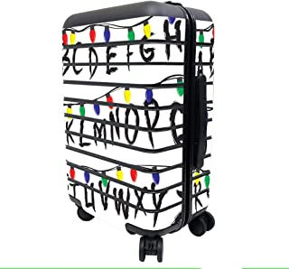 MightySkins Skin Compatible with Away The Carry-On Suitcase - Stranger Alphabet   Protective, Durable, and Unique Vinyl De...