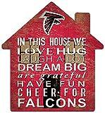 NFL Atlanta Falcons Unisex Atlanta Falcons House Sign, Team Color, 12 inch