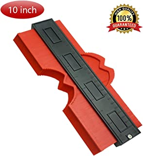 Contour Duplication Gauge 10 Inch Profile Gauge Duplicator Precise Shape Edge Measurement Ruler Plastic Copy Tools Perfect Fit and Easy Cutting for Woodworking Tiles Frames Pipes Flooring Ducts, Red