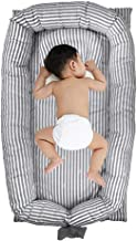 Best Windream Baby Nest Baby Lounger-Grey Striped Breathable, Washable, Portable and Lightweight Perfect for Cuddling, Lounging, Co Sleeping, Napping and Travel Bassinet(0-24 Months) Review