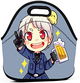 KILILY Prussia - Hetalia Men Women Kids Insulated Lunch Bag Tote Reusable Lunch Box For Work Picnic School