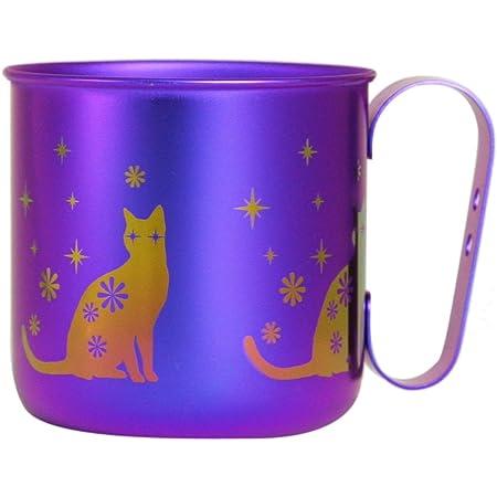 ホリエ チタンデザインマグカップ 動物 ネコ(パープル) TMA-211B