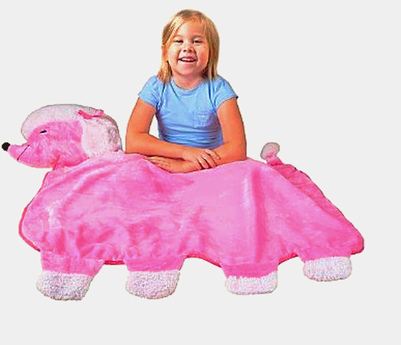 Best Friend Blankie Pink Poodle