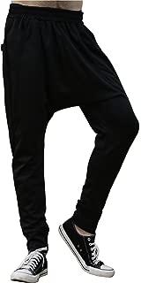 Men Casual Drop Crotch Lightweight Pockets Knit Jogger Sweatpants Pants