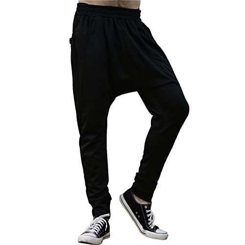 055ba53b3b4 uxcell Men Drop-Crotch Dance Sport Jogging Baggy Hip Hop Harem Pants