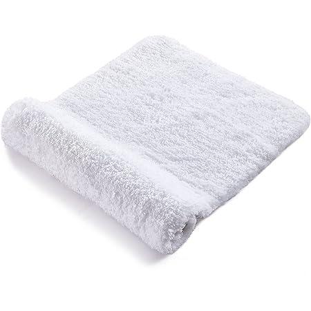 RiyaNed Alfombra de baño Antideslizante, Alfombra baño Blanco,Absorbente, Suave y esponjosa, para bañera, Ducha y baño, Lavable a máquina, fácil de Limpiar (Blanco, 40 x 60)