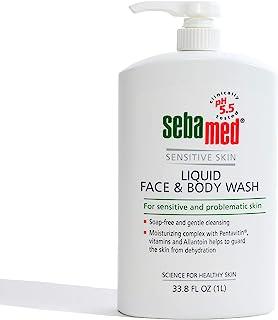 seba med Liquid Face and Body Wash, for Sensitive Skin 33.8-Fluid Ounces Bottle