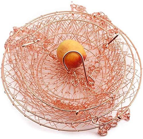 Cesta de frutas colgantes de 3 capas - Almacenamiento de alambre de metal moderno Almacenamiento de estilo de almacenamiento Más espacio en la superficie de la superficie de trabajo para la flor de la