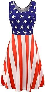 Melynnco Women's Sleeveless Halloween Pumpkin Bats Tank Dress