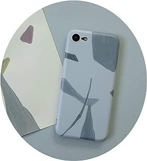 ミカンオリジナル手描きイラストfor iphone 7 / 8p / XSMAX / XRシリコンソフトシェルアップルX携帯シェル6p,for iphone 7/8ソフトシェル - ブルーグレーブロック