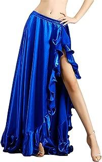 ROYAL SMEELA Belly Dance Costume for Women Belly Dancing Skirts Slit Ruffle Maxi Skirt Dance Dress Bellydance Dancer Outfit