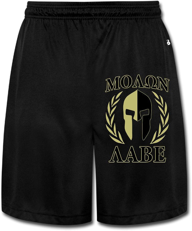 Molon Labe Olive Laurels Mask Men Shorts Sweatpants Black