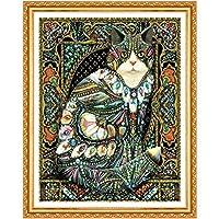 ミニジグソーパズル1000個猫と羽のジグソーパズル のジグソーパズル50x75cm