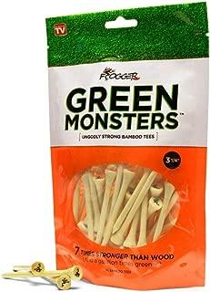Frogger Golf Green Monsters 100% Bamboo Golf Tees, (3 1/4