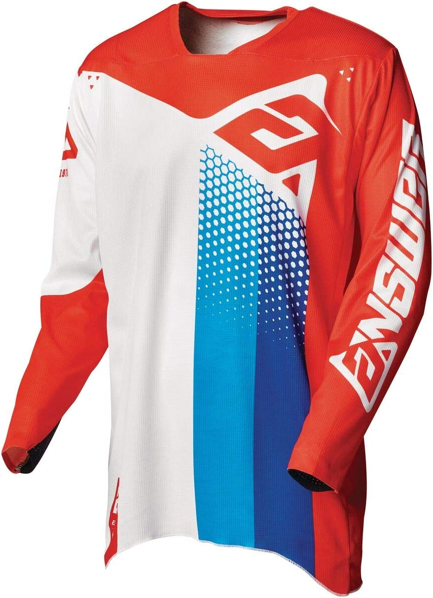Answer 2021 好評 期間限定今なら送料無料 Elite Jersey - RED Pace White X-Small Blue