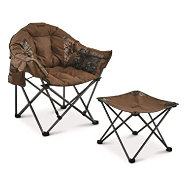 Guide Gear Oversized Club Camp Chair and Foot Stool