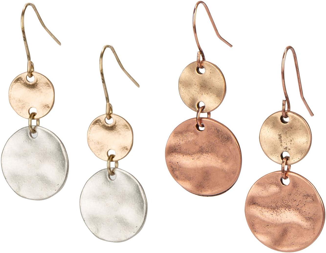 Popular standard SPUNKYsoul Boho Disc Light Weight for Women Earrings 2 Pack Fees free