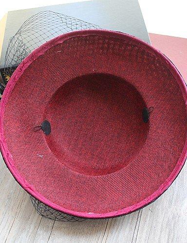 ZYT Femme Chapeau Traditionnel/Vintage Chic & Moderne Elégant & Luxueux Coton Bob,Solide Printemps/Automne Hiver, Fuchsia, One-Size