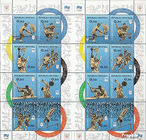 Prophila Collection Kroatien Z42-Z57 Kleinbogen III+IV (kompl.Ausg.) 1994 Olymp. Komitee (Briefmarken für Sammler) Basketball/Volleyball/Handball