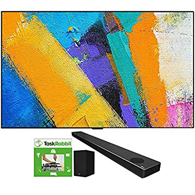 LG OLED65GXPUA 65-inch GX 4K Smart OLED TV with AI ThinQ (2020 Model) Bundle SN10YG 5.1.2 ch High Res Audio Sound Bar with Dolby Atmos and Google Assistant + TaskRabbit Installation Services from LG